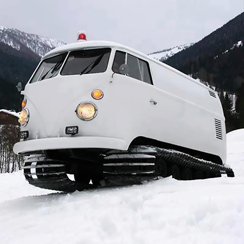 Snow-tracks-made-from-a-Volkswagen-van